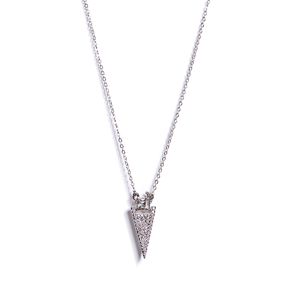 Necklace - Crystal - Arrow Clear