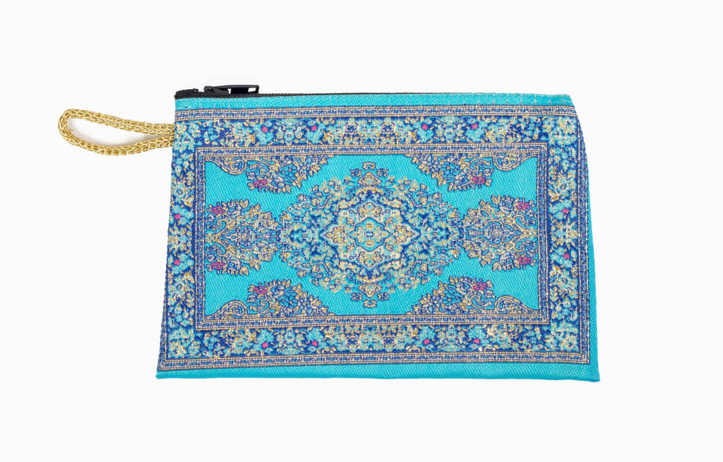 Coin Purse - Small Turquoise & Blue - Beksan Designs