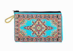 Coin Purse - Small Turquoise, Blue & Red - Beksan Designs