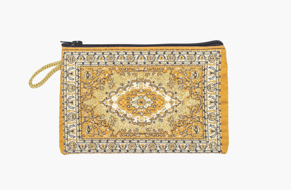 Coin Purse - Small Mustard Yellow & Gold