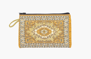 Coin Purse - Small Mustard Yellow & Gold - Beksan Designs