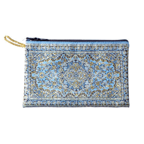 Coin Purse - Light Blue & Gold