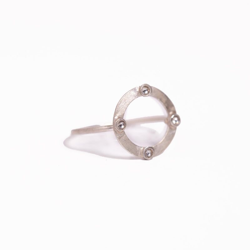 Ring - Crystal - Circle Geo (also available in 24k gold vermeil)