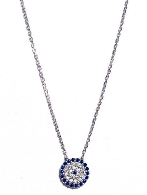 Necklace - Crystal - Modern Evil Eye Medium