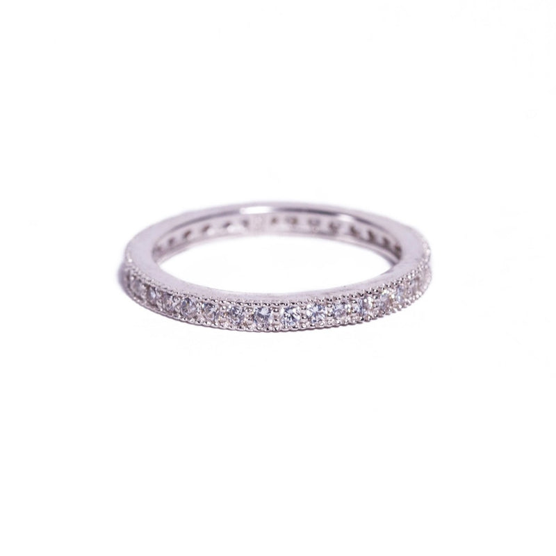 Ring - Crystal/Silver - Single Stack (also available in 24k gold vermeil)