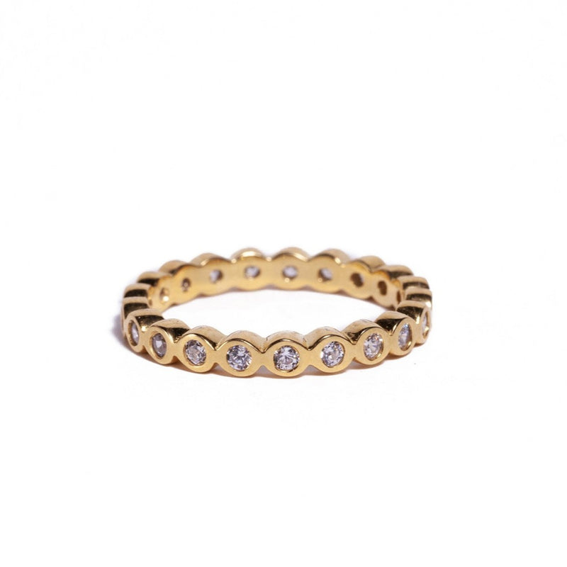 Ring - Crystal - Gold Single Stack also avail. in Rose Gold & Silver