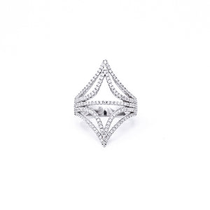 Ring - Crystal - Double Pyramid