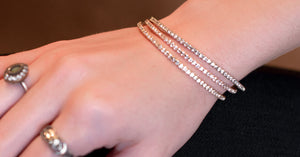 Bracelet - Crystal - Thin Inlay in Rose Gold