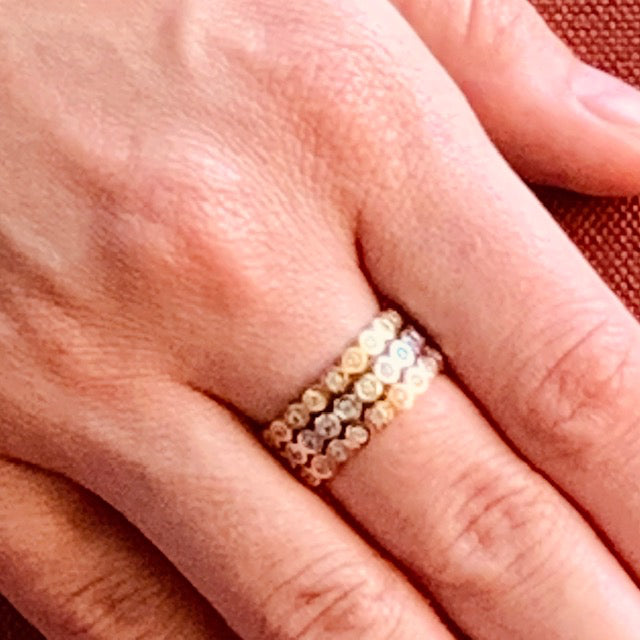 Ring - Crystal - Gold Single Stack