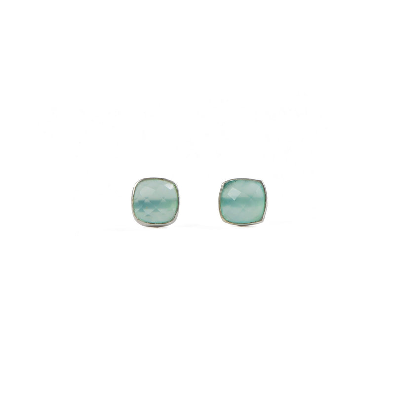 Earrings - Antika - Stud Chalcedony Silver