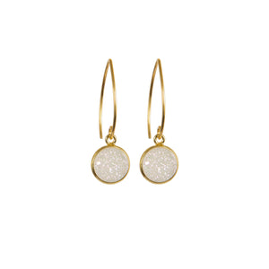 Earrings - Antika - 1/2 Hoop/Dangle Gold - Beksan Designs