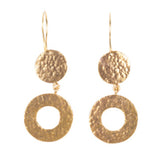 Earrings - Antika - Geo Double Round