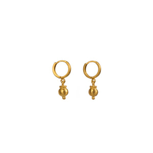 Earrings - Silver - Small Ball and Gold