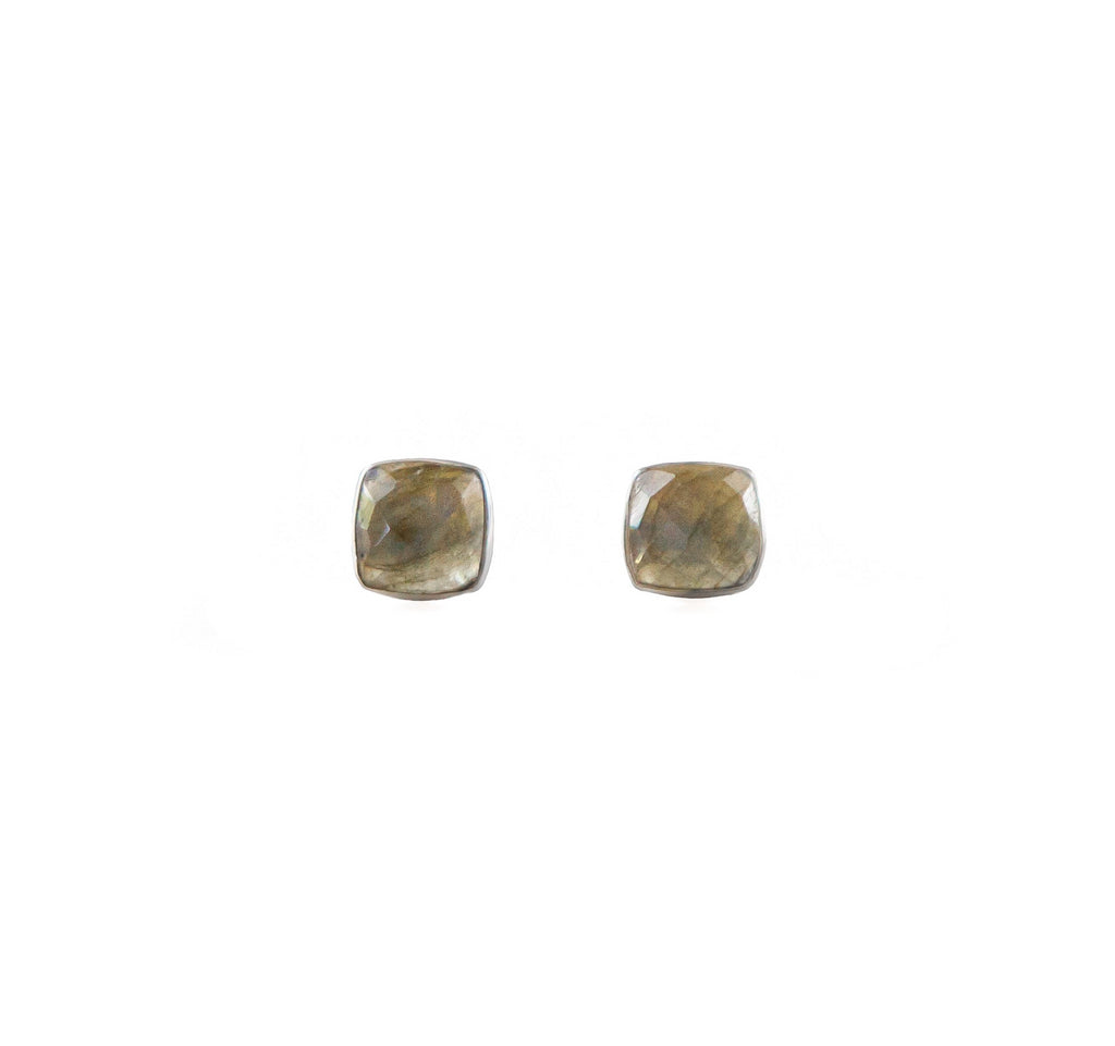 Earrings - Antika - Stud Labradorite Silver