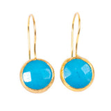 Earrings - Antika - Single Stone Small Aquamarine