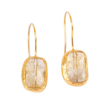 Earrings - Antika - Single Stone Small Citrine