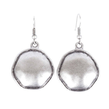 Earrings - Zinc/Silver - Circle - Beksan Designs
