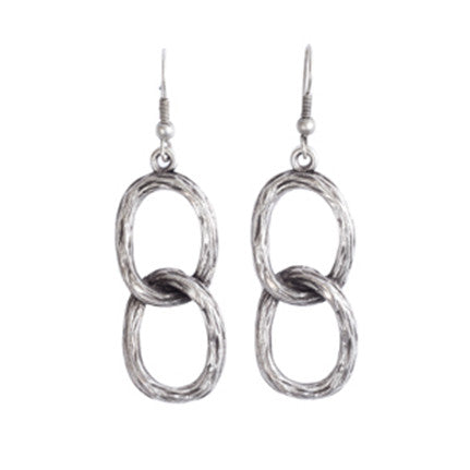Earrings - Zinc/Silver - Link Chain - Beksan Designs