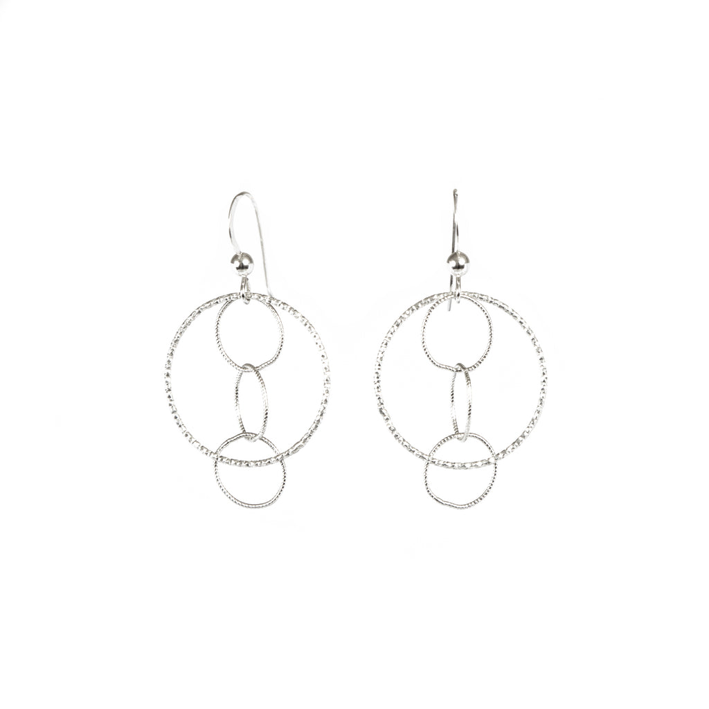 Earrings - Silver - Multi Circle Dangle