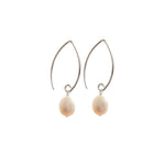 Earrings - Antika - 1/2 Hoop/Dangle Pearl
