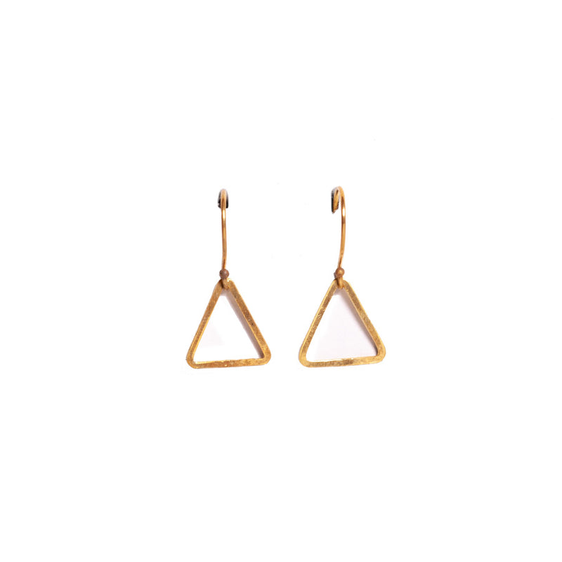 Earrings - Antika - Geo Triangle Shape