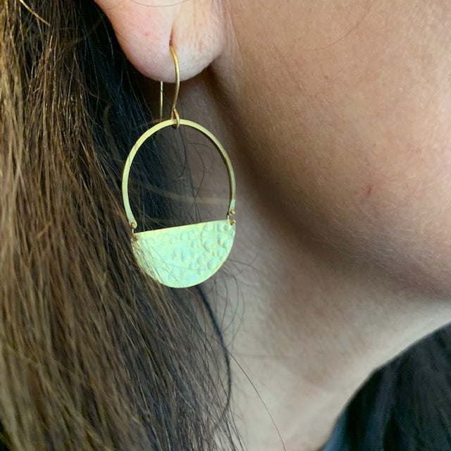 Earrings - Antika - Geo Hammer 24k Gold Vermeil