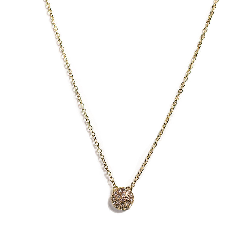 Necklace - Crystal - Pave Pendant Gold Vermeil