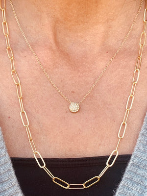 Necklace - 24k Gold vermeil - Thick Link Chain