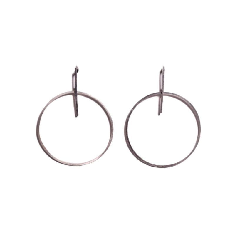 Earrings - Antika - Geo Circle Post Stud (also available in 24k gold vermeil)
