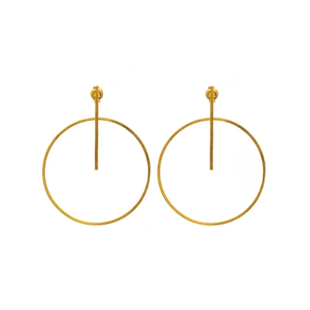 Earrings - Antika - Geo Circle Post Stud (also available in sterling silver)