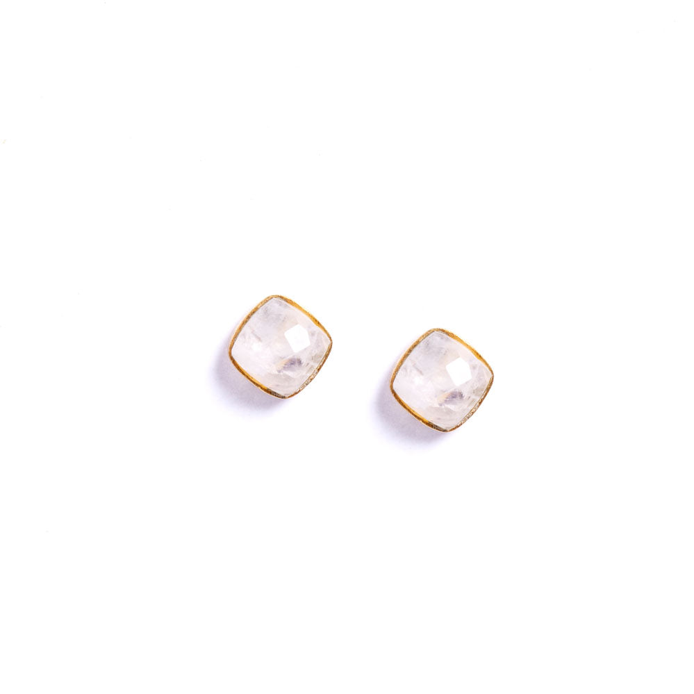 Earrings - Antika - Moonstone Gold Post