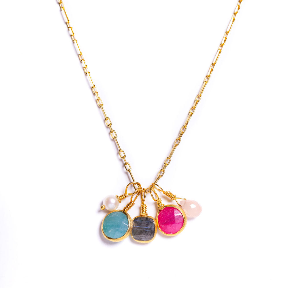 Necklace - Antika - Multi Small Gemstones