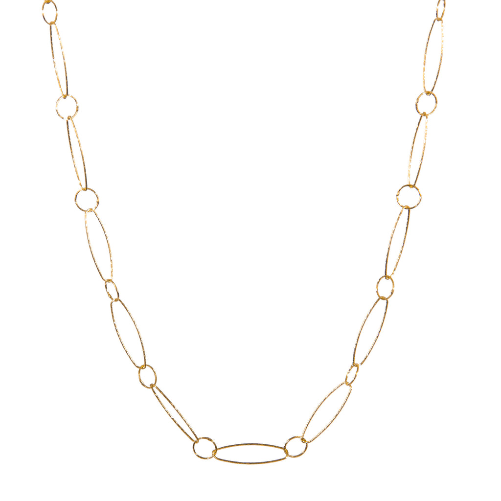 Necklace - 24k Gold vermeil - Link Chain - Beksan Designs