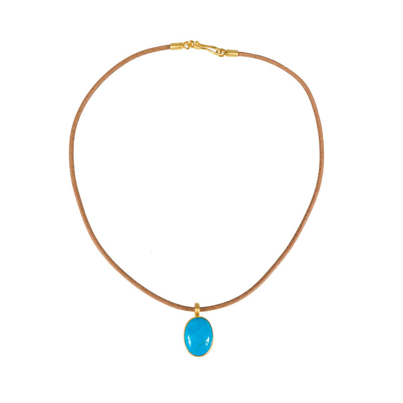 Antika - Leather Turquoise Stone - Beksan Designs