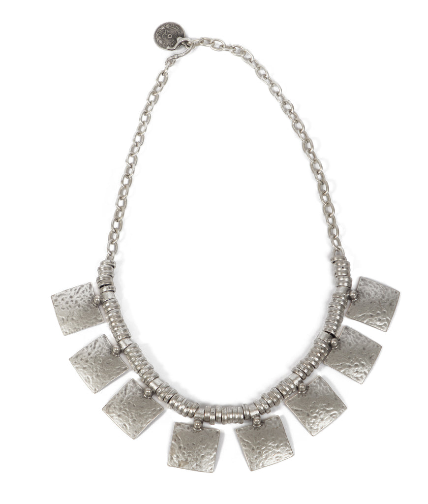 Necklace - Zinc - Hammered