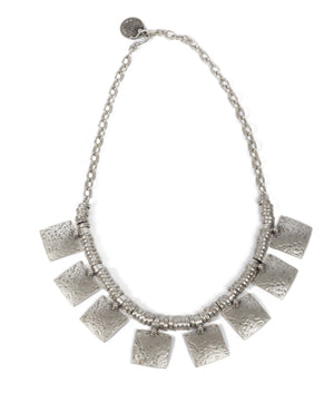 Necklace - Zinc/Silver - Hammered - Beksan Designs