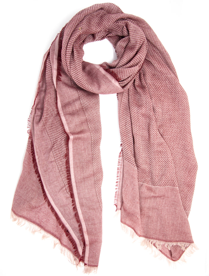Scarf - Pashmina - Red and Cream