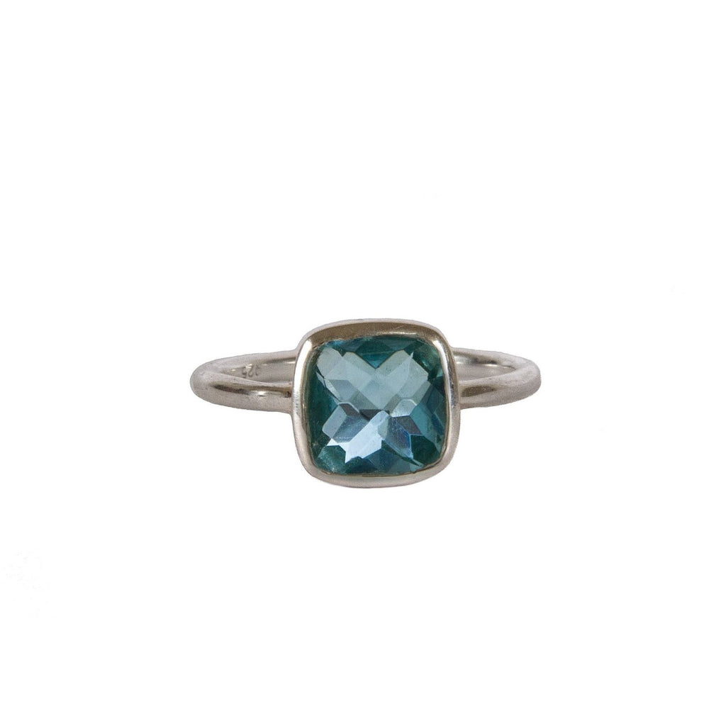 Ring - Silver - Small Stone Blue Topaz