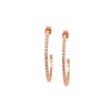 Earrings - Crystal - 1/2 Hoop Rose Gold Medium (also available in gold)