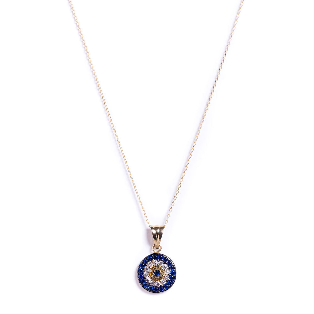 Necklace - Sapphire ~ Blue, Yellow, White & 14k gold