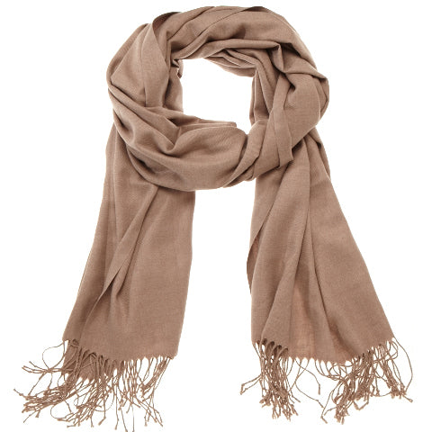 Scarf - Pashmina - Solid Beige