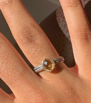 Ring - Silver - Stone Citrine