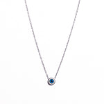 Necklace - Silver - Modern Enamel Evil Eye