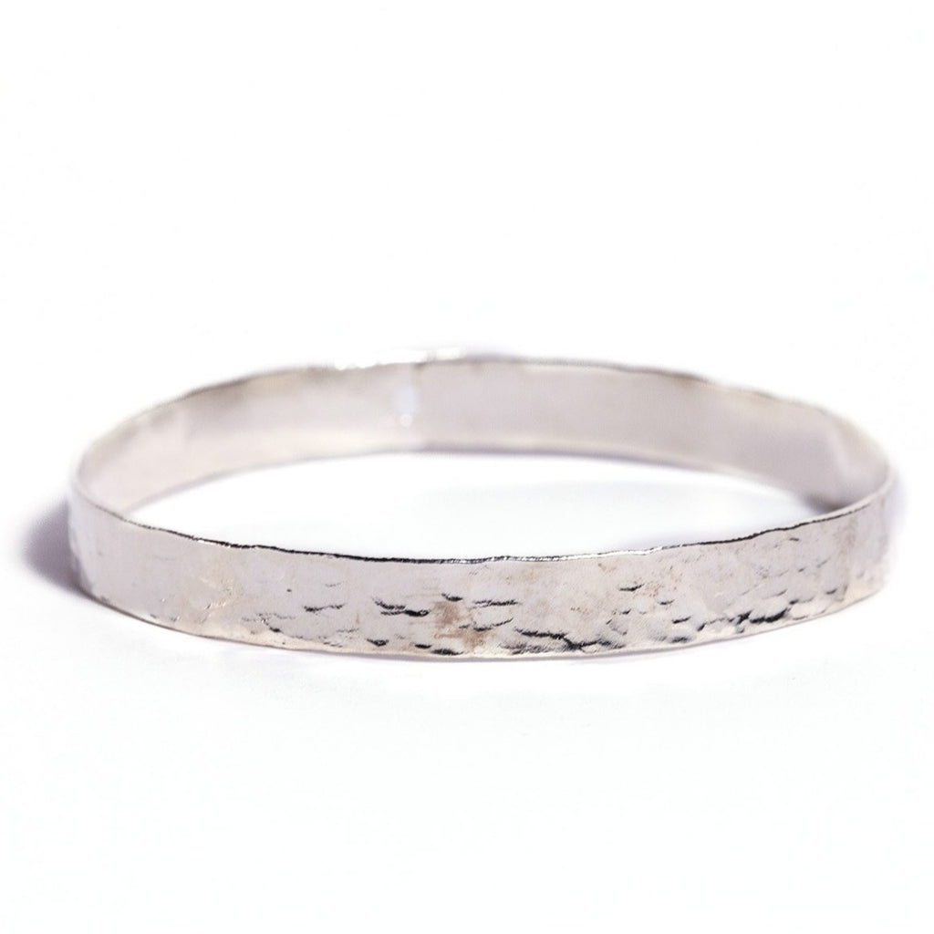 Bracelet - Antika ~ Hammered Silver Bangle