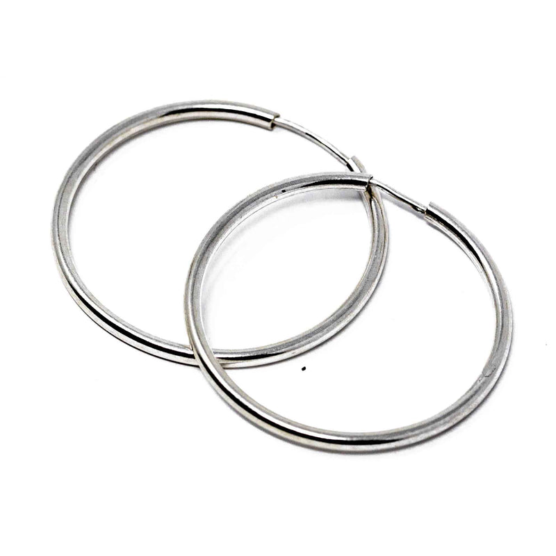 Earrings - Silver - Hoop - Beksan Designs
