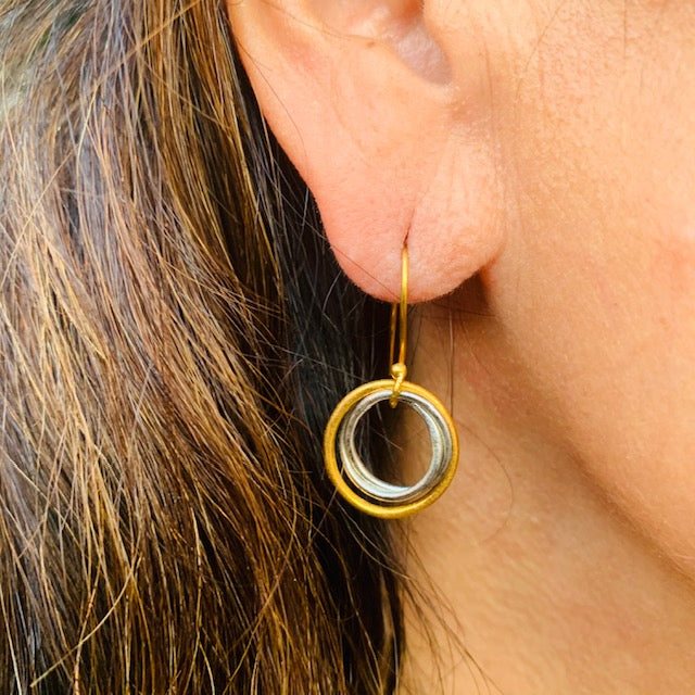 Earrings - Antika - Geo Mixed Metal
