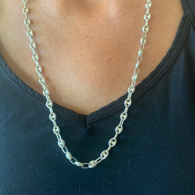 Necklace - Silver - Thick Link Chain