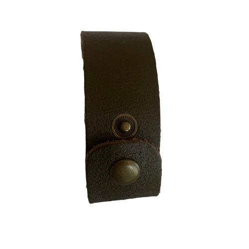 Bracelet - Leather - Men's or Women's Leather Plain Thick Brown
