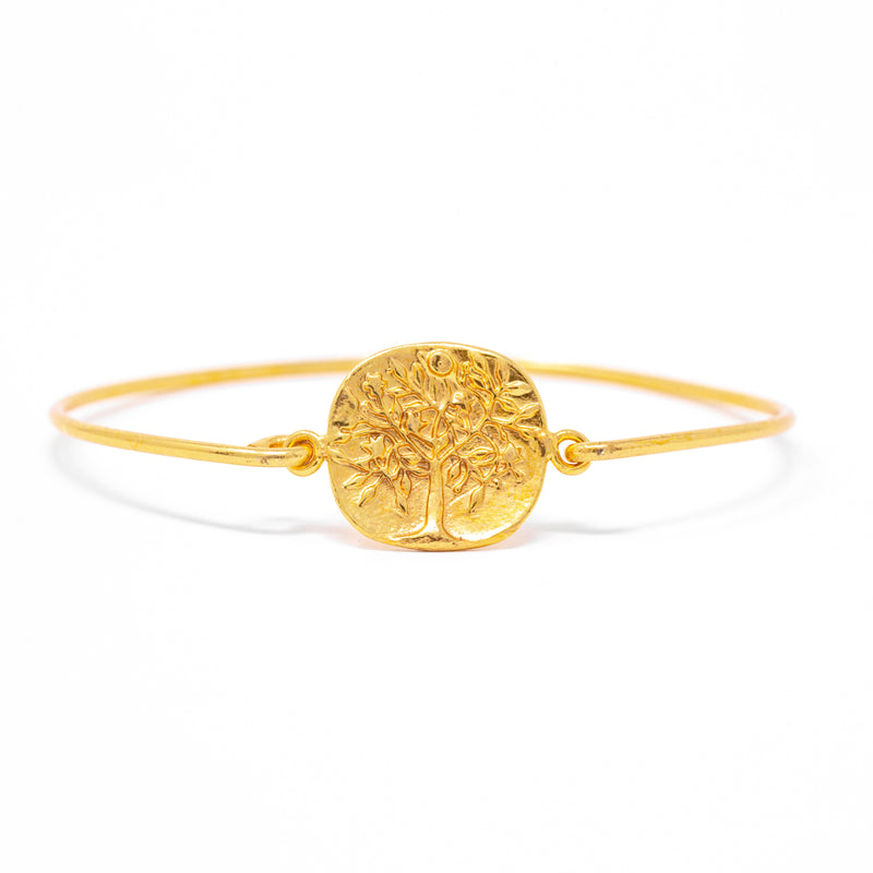 Bracelet - Antika - Tree of Life Hook & Eye Gold