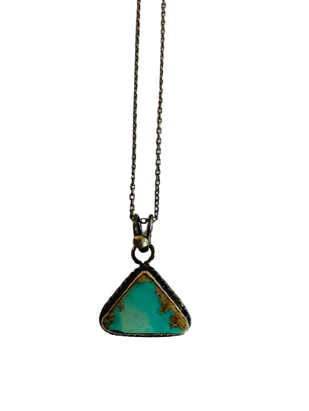 Necklace - Silver - Turquoise Pendant